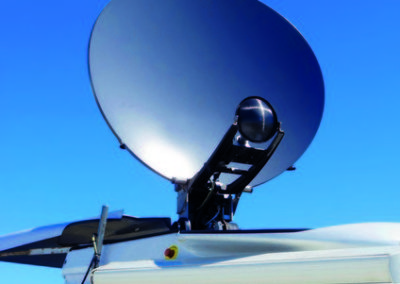 News Van Satellite Dish